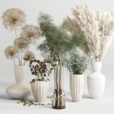 现代花瓶花艺