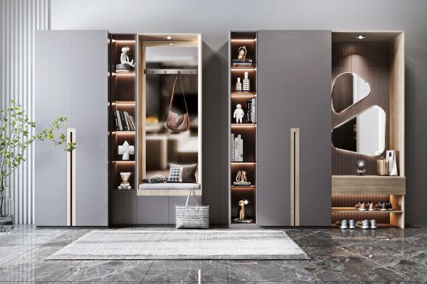 現代風格鞋柜 裝飾品