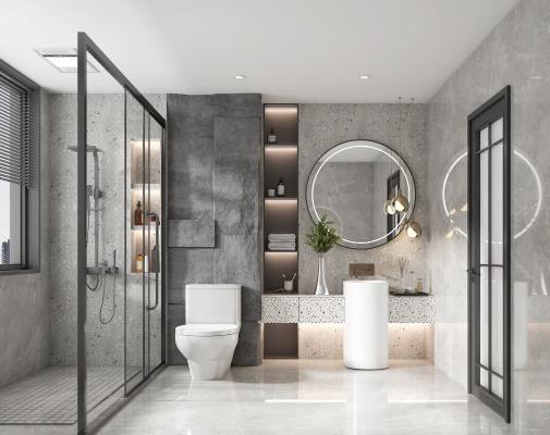 现代卫生间 洗手间