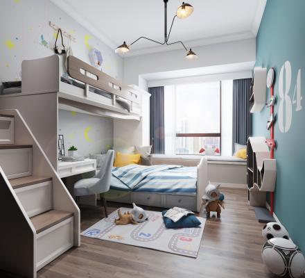 北欧卧室儿童房