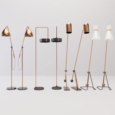 现代风格金属的落地灯