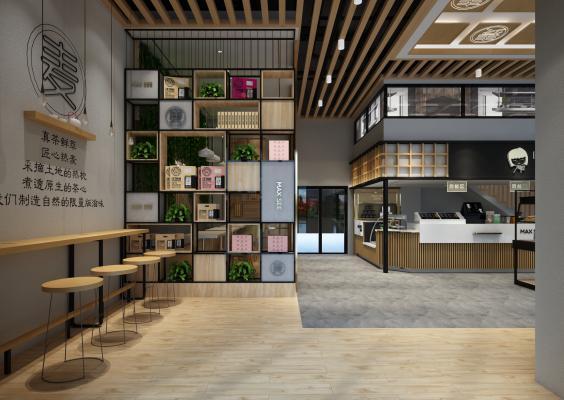 现代咖啡奶茶面包店