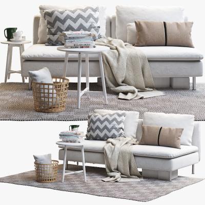 现代双人沙发 茶几组合