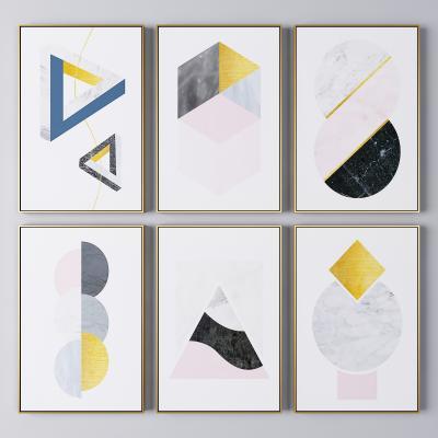 北欧轻奢抽象装饰挂画 抽象画 艺术画
