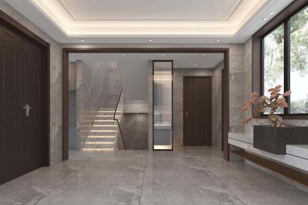 新中式楼梯间 玄关