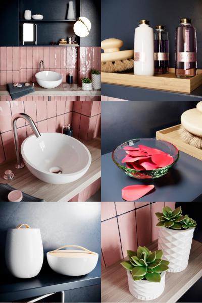 现代卫浴用品 洗手台 洗手盆
