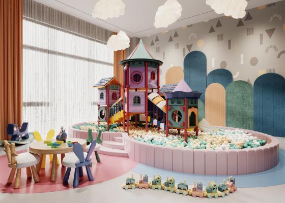 现代儿童活动区 游乐区