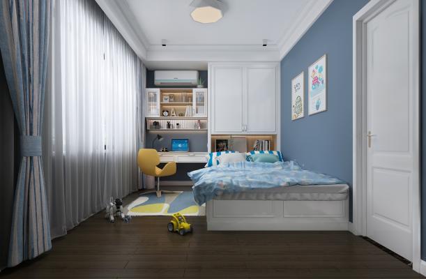 现代小孩房 卧室