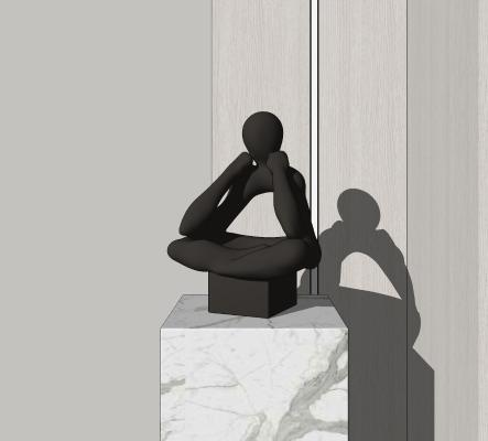 �F代雕塑�[件