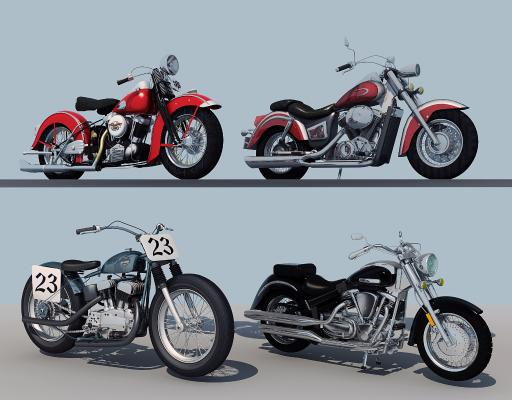 现代摩托车组合