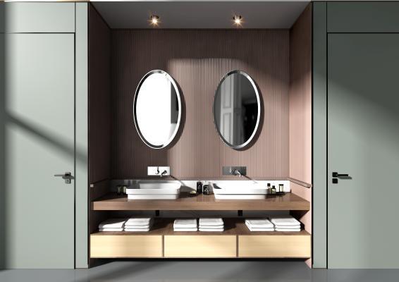 現代浴室台盆柜组合