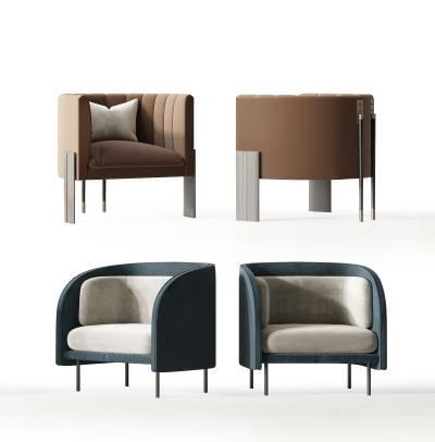 现代休闲椅 单人沙发 单椅