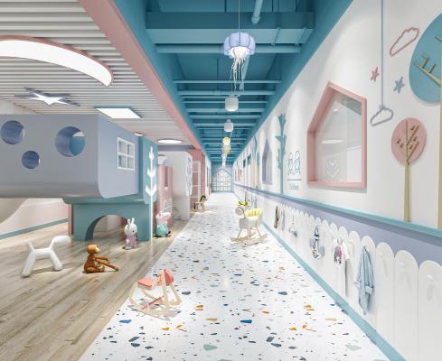 幼儿园感统室 过道