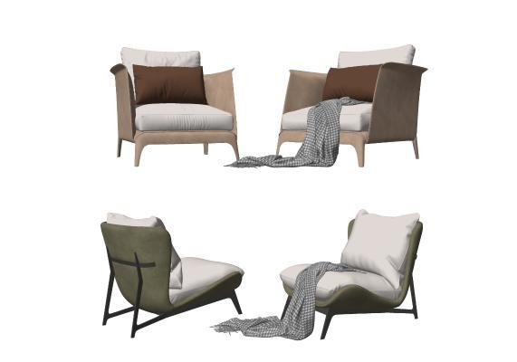 現代單人沙發組合