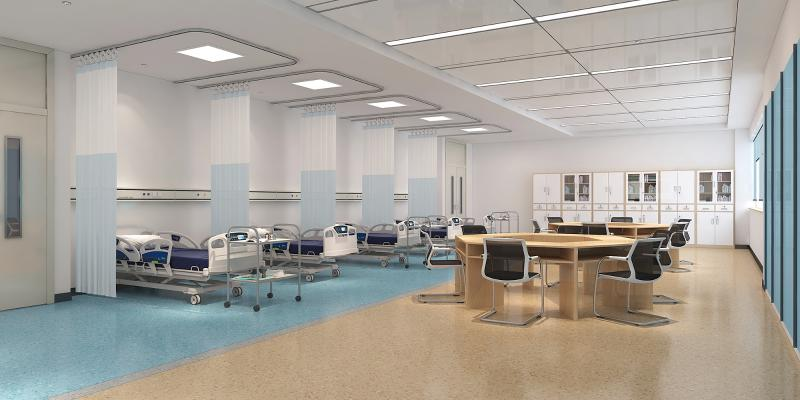 现代医院病房 病床 办公桌椅