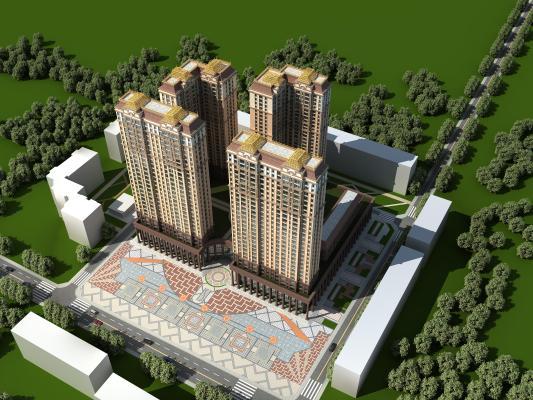现代高层住宅外观