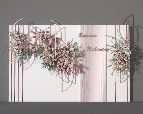 现代花艺墙 绿植墙 装饰墙