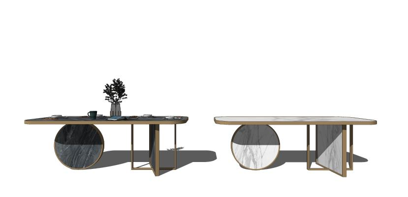 现代简约大理石餐桌