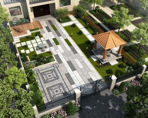 现代别墅庭院