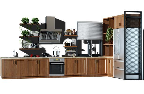 現代廚房櫥柜 廚具 抽油煙機