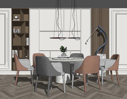 北欧餐厅 餐桌椅组合