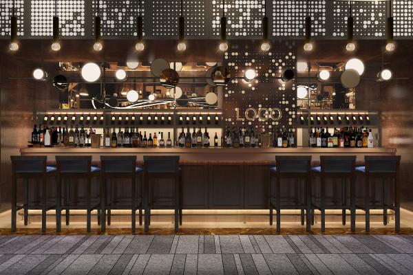 工业风酒吧 吧台 朋克风酒吧
