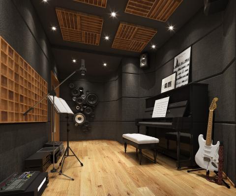 现代录音室 乐器