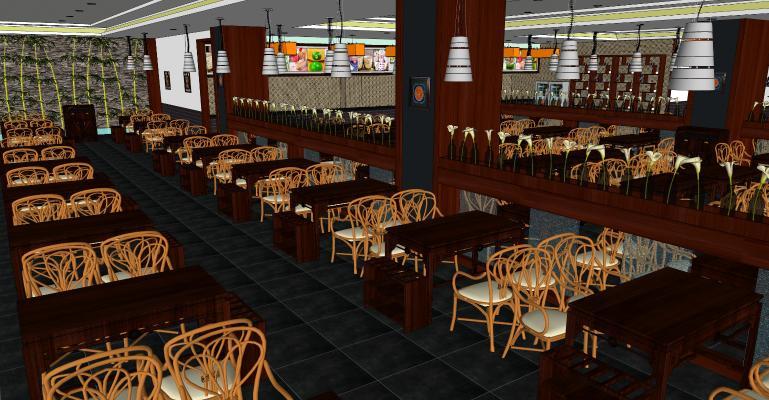 中式餐厅 工装空间 餐饮