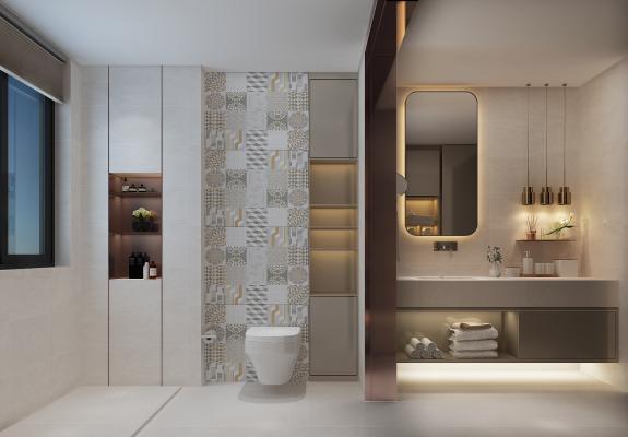 现代风格卫生间 洗手台