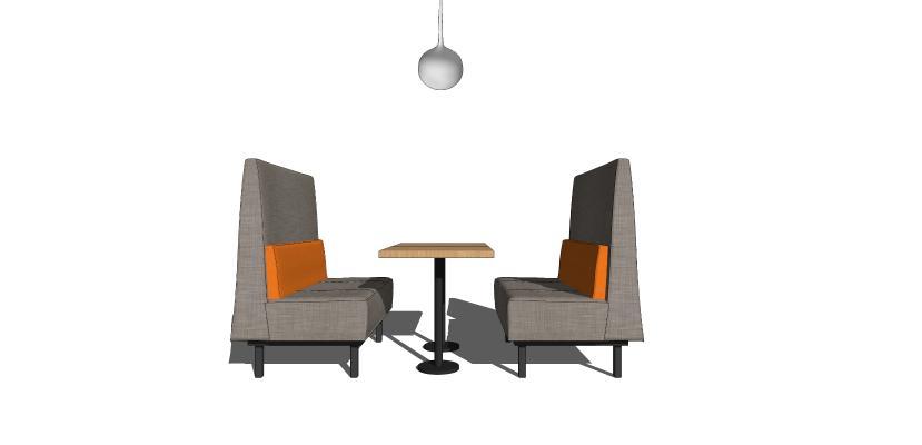 现代休闲桌椅组合 卡座