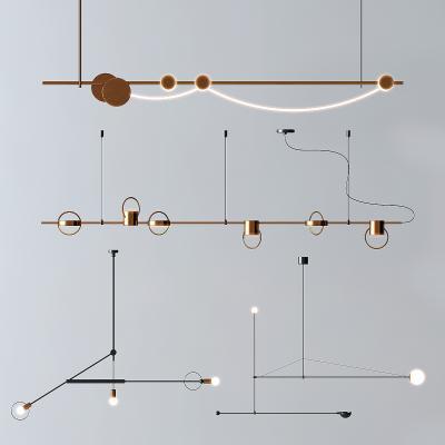 現代金屬線性吊燈