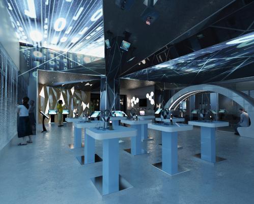 现代手机展厅