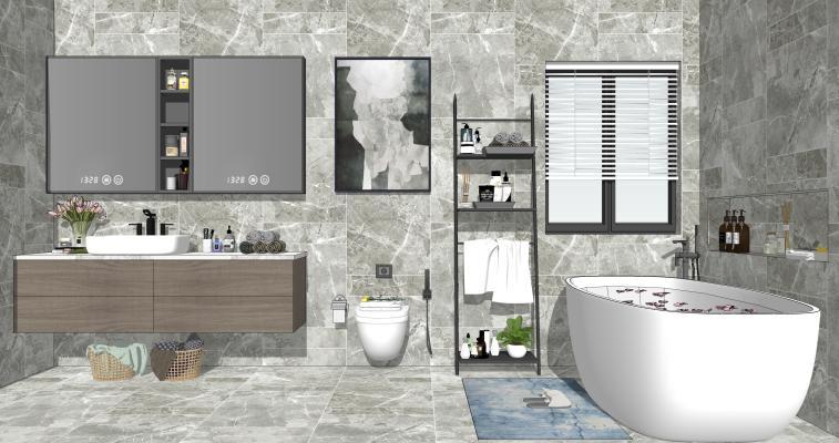 现代风格家居卫生间 淋浴组合