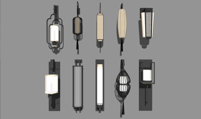 中式风格壁灯合集