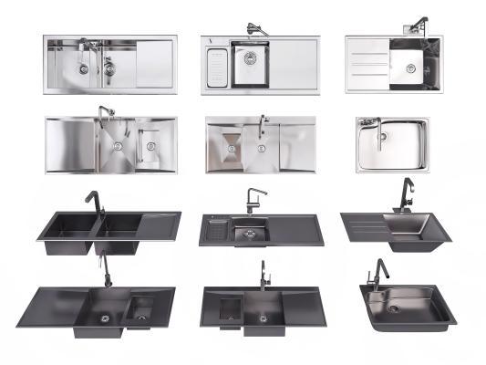 现代洗菜盆 水槽 不锈钢洗菜盆