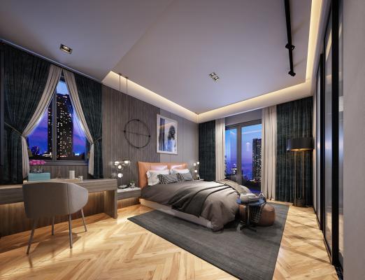現代簡約主臥室