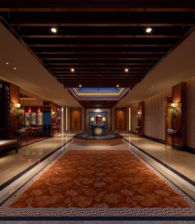 东南亚风格酒店大堂 会所