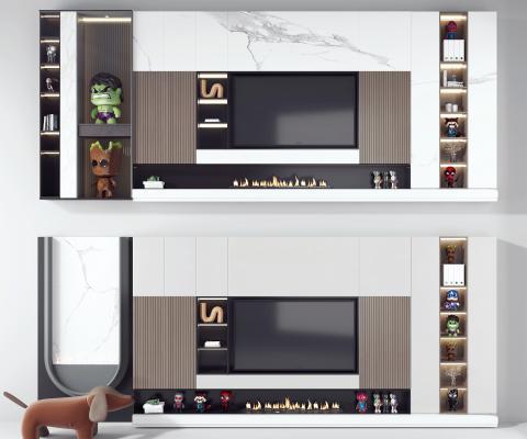 現代電視背景墻