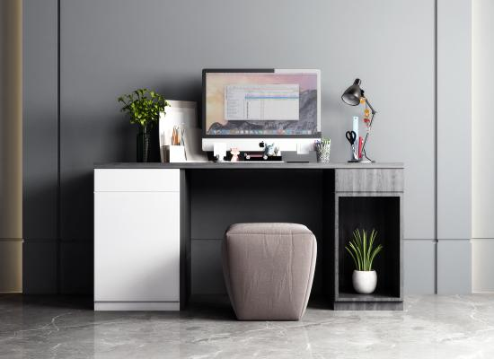 现代书桌组合