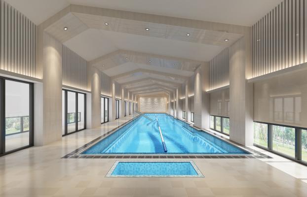 现代风格游泳馆