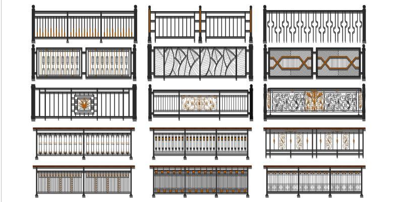 欧式栏杆 铁艺护栏
