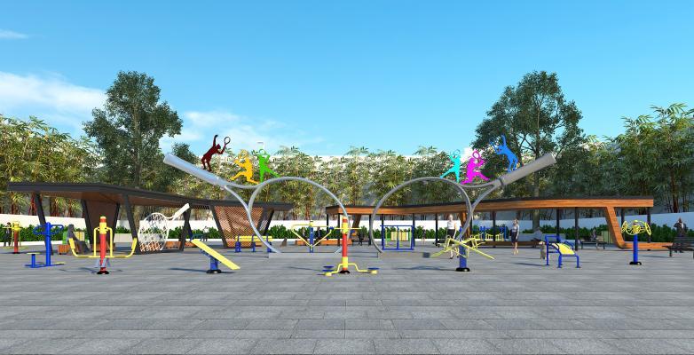 现代户外广场公园