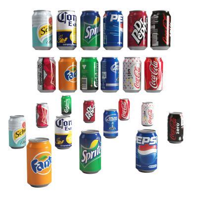 现代罐装汽水饮料