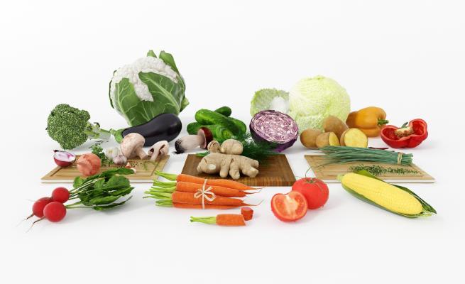 现代蔬菜组合 胡萝卜 西红柿