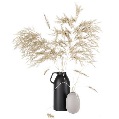 现代芦苇花瓶