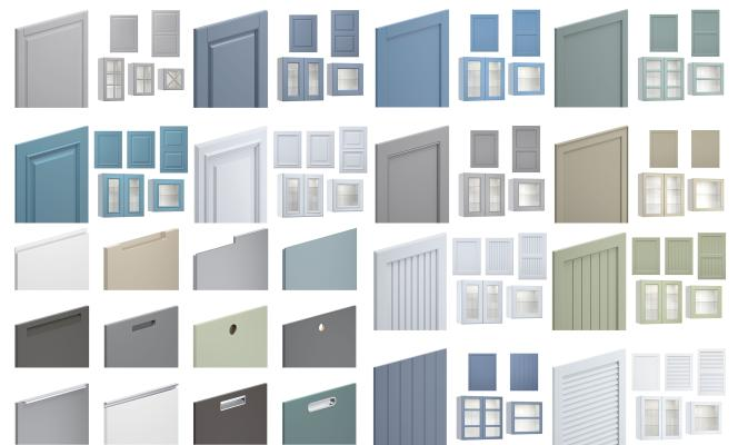 现代柜子组合 橱柜组合 墙柜组合
