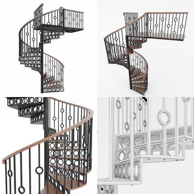 现代铁艺旋转楼梯