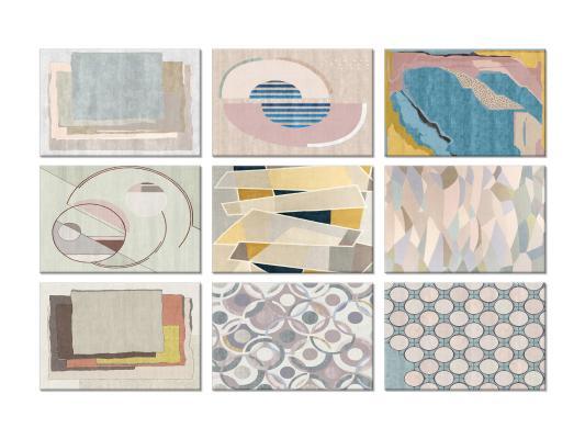 现代简约莫兰迪色地毯