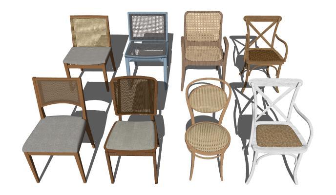 北欧风格休闲椅 藤艺休闲椅组合 布艺休闲椅