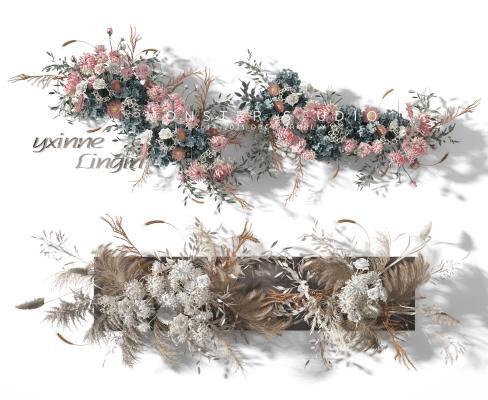 现代花艺 花卉 花艺墙